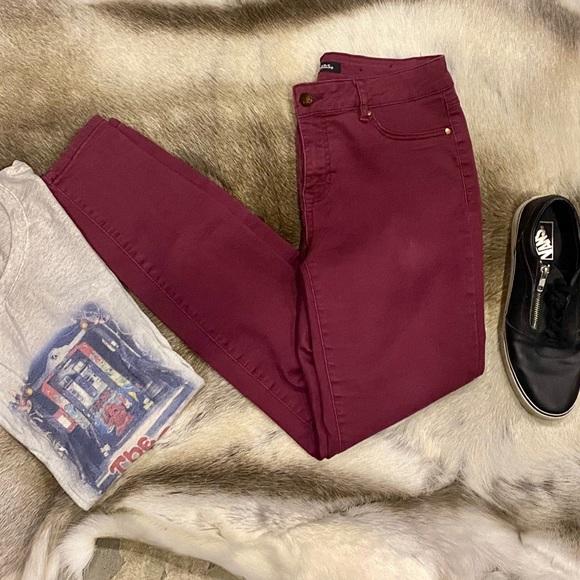 D Jeans Jeans Djeans Size 6 Burgundy Color Stretch Skinny Jeans Poshmark